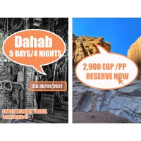 Dahab 5 Days / 4 Nights Valid till 30/01/2021 (Registration no.2071)