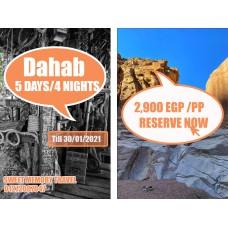 Dahab 5 Days / 4 Nights Valid till 30/01/2021 (Registration no.2071)