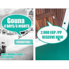 Gouna 4 Days / 3 Nights Valid till 26/12/2020 (Registration no.2071)