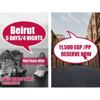 NEWYEARS OFFER :Beirut, Lebanon  5 Days / 4 Nights from 29/12/2020 till 02/01/2021 (Registration no.2071)