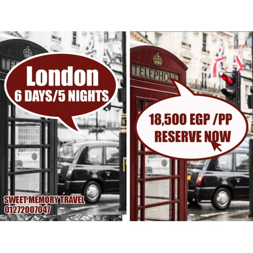 London,UK 6 Days / 5 Nights from 27/05/2020 till 01/06/2020